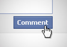 Button Comment Royalty Free Stock Photography