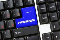 Button of communicate Stock Image