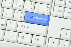 Button of communicate Stock Photo