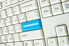 Button of communicate Stock Photography