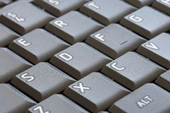 Button on computer keyboard Stock Photography