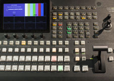 Button on the control panel television equipment Stock Photography