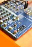 Button control sound mixer Royalty Free Stock Photography