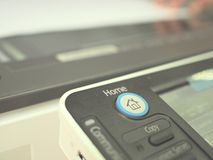 Button on copy machine Stock Images