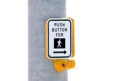 button cross push street to Στοκ Φωτογραφίες