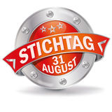 Button deadline 31th august Royalty Free Stock Photo