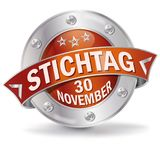 Button deadline November 30th Stock Photography