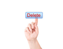 The button. Delete Royalty Free Stock Photography