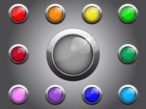 button den blanka vektorn för den färgrika illustrationen Royaltyfri Bild