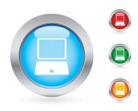button den glansiga seten för datoren royaltyfri illustrationer