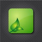 button den gröna symbolen för ecoen Royaltyfria Foton