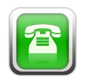 button den gröna telefonen Arkivfoton