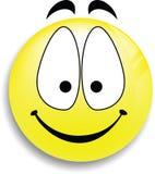 button den lyckliga smileyen för framsidan Royaltyfri Foto