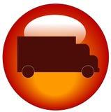 button den röda lastbilrengöringsduken för symbolen Arkivbilder