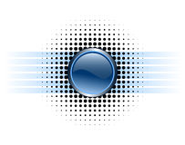 button designen glansig Royaltyfri Foto