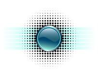 button designen glansig Arkivbilder