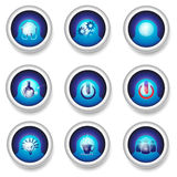 Button designs icons Stock Photography