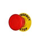 button det röda stoppet för nödläget Royaltyfria Bilder
