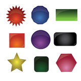 Button with different color. Different button design with many different color and shape Royalty Free Stock Photos