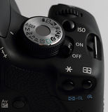 Button on digital camera Stock Image