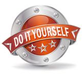 Button do it yourself. And work at home stock illustration