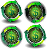 Button dollar Stock Photography