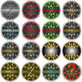 Button download Royalty Free Stock Photo