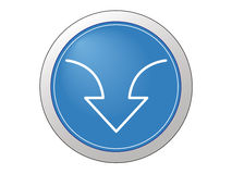 Web icon download. Its a web download button Royalty Free Stock Images
