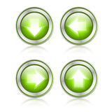 Button with download sign Royalty Free Stock Photo