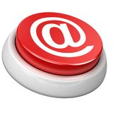 Button e-mail. 3d image of button e-mail. White background Stock Photography