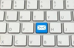 button e-posttangentbordet Royaltyfri Foto