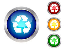 Button with ecology symbol Stock Photos