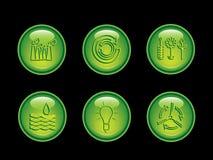 button ekologii neonowe serii Zdjęcia Royalty Free