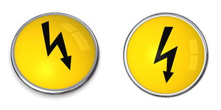Button Electricity Symbol Royalty Free Stock Photography
