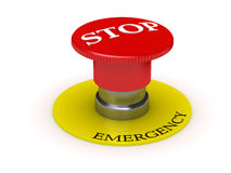 Button - emergency STOP. Image can be used as Thematic illustration or background (for printing and web Royalty Free Stock Photos