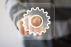 Button engineering business web icon royalty free stock image