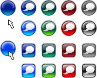 button etykiety Obraz Royalty Free