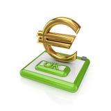 button euro ok sign Стоковое Изображение