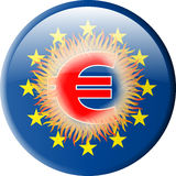 Button_Europe Foto de Stock