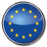 Button of Europe. And the stars Royalty Free Stock Images
