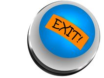 Button exit Royalty Free Stock Images