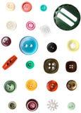 button färgrikt Royaltyfri Fotografi