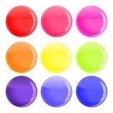 button färgrikt glansigt Royaltyfria Foton
