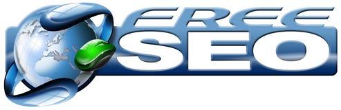 button för seostrategi för motorer den fria rengöringsduken Arkivbild