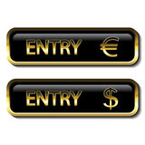 Button with financial activity. Illustration Royalty Free Stock Photos