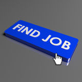Button Find job. On keyboard Stock Images