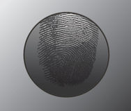 Button with fingerprint Royalty Free Stock Photography