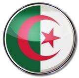 Button with Algeria. Button with flag of Algeria Stock Image
