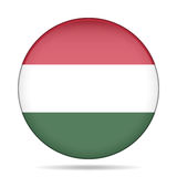 Button with flag of Hungary Stock Photography