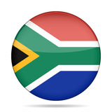 Button with flag of South Africa Royalty Free Stock Photography